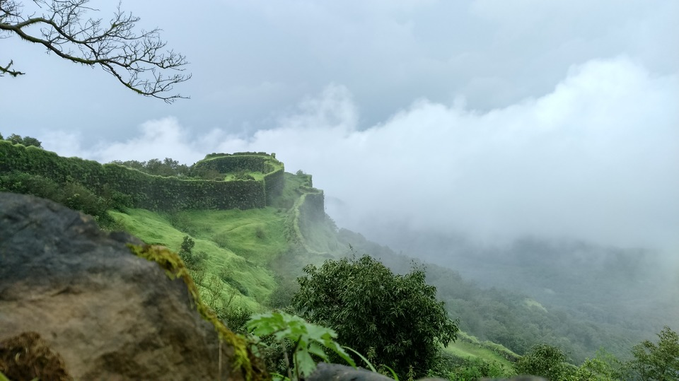 Green lush mountains in lonavala
