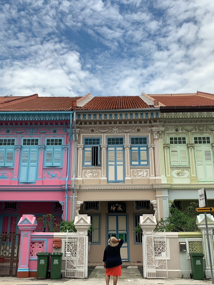 Colorful houses at Joo Chiat road