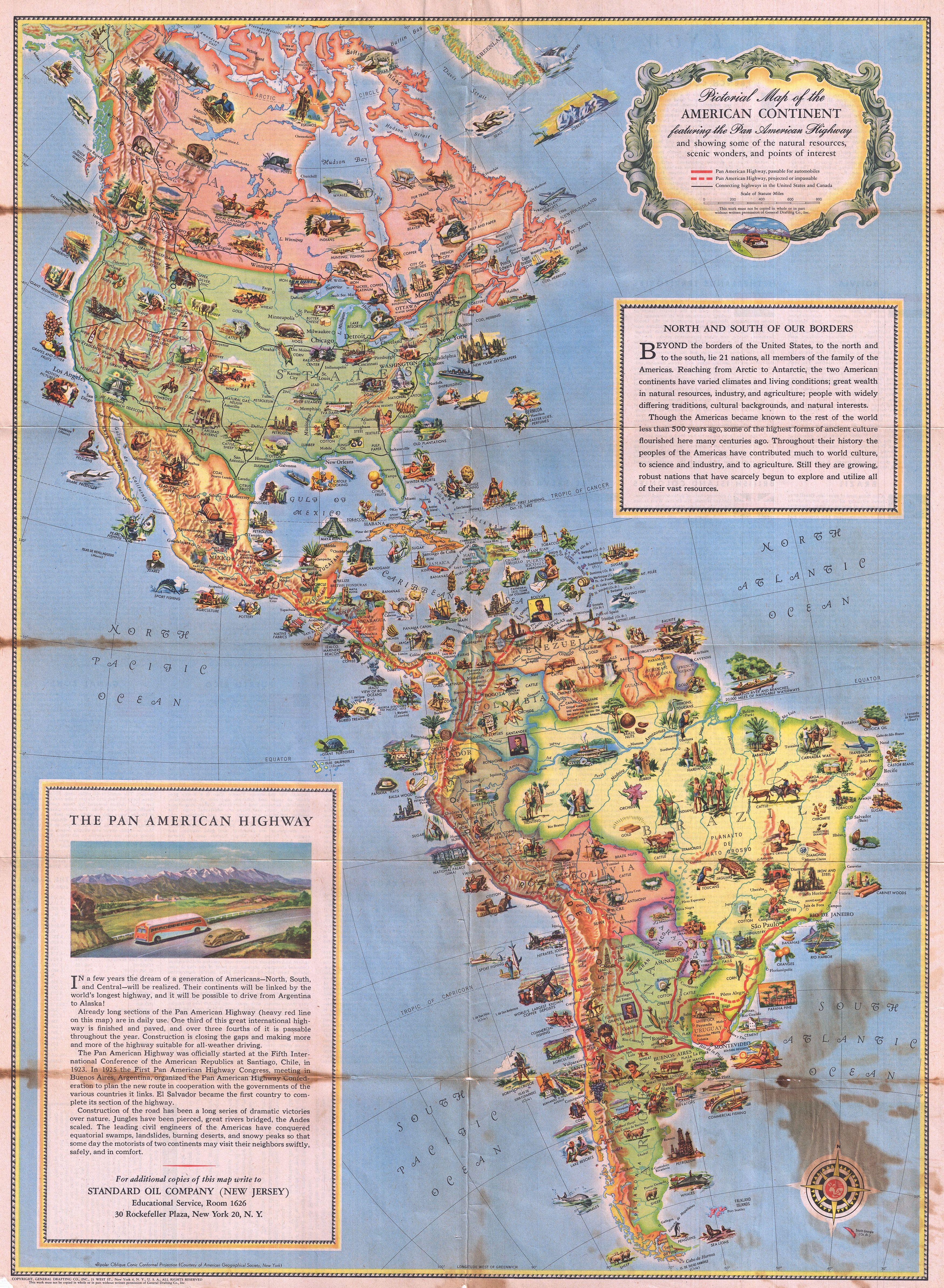 pictorial map of the