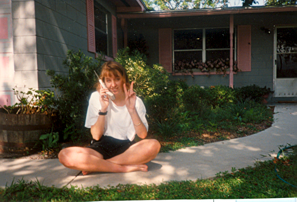 the day before leaving for the Peace Corps in front of dad's house