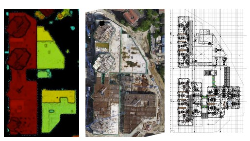 Different geopsatial drone map types used for construction site projects