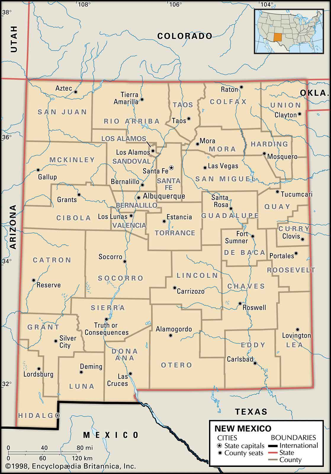 Maps Of Northern New Mexico : northern, mexico, Historical, City,, County, State, Mexico