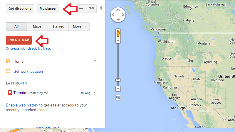 Plan a Trip Itinerary Using Custom Google Maps