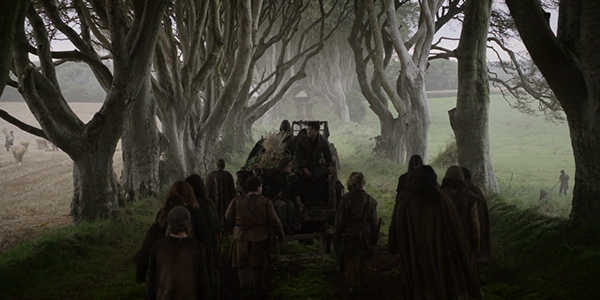 Arya and Gendry head down the Kingsroad in Season Two. (HBO)