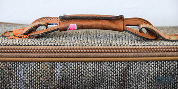 Rugged leather handle.