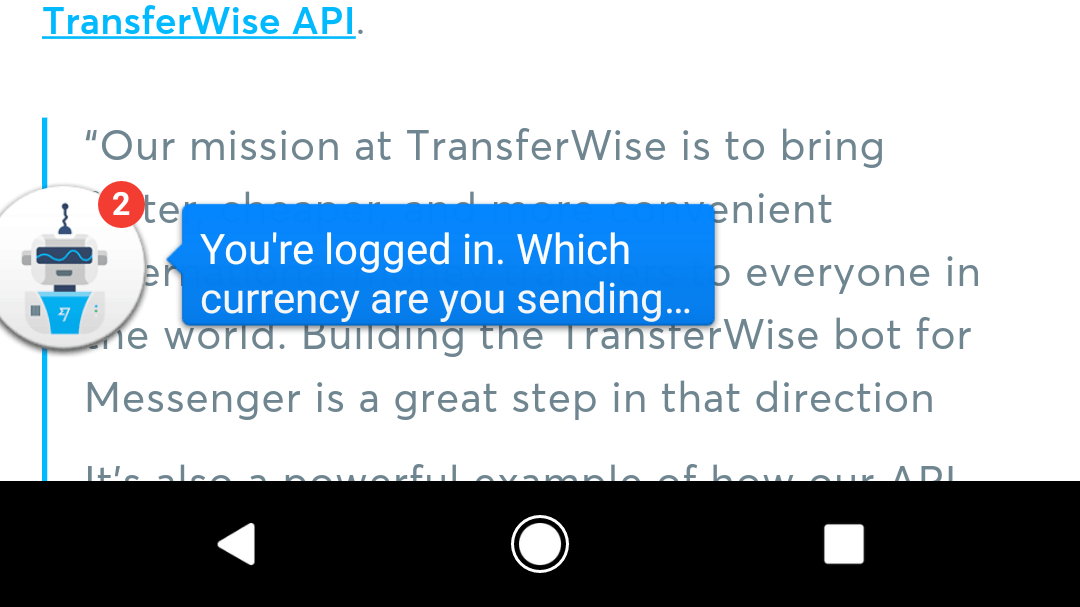 TransferWise's Facebook Messenger Bot Isn't Great for Sending Money via @maphappy