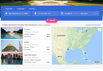Feeling Stuck? Google Flights Lists the Cheapest Destinations for Locked Dates