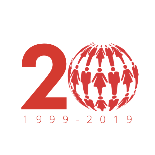 20th Anniversary Logo - Red on White