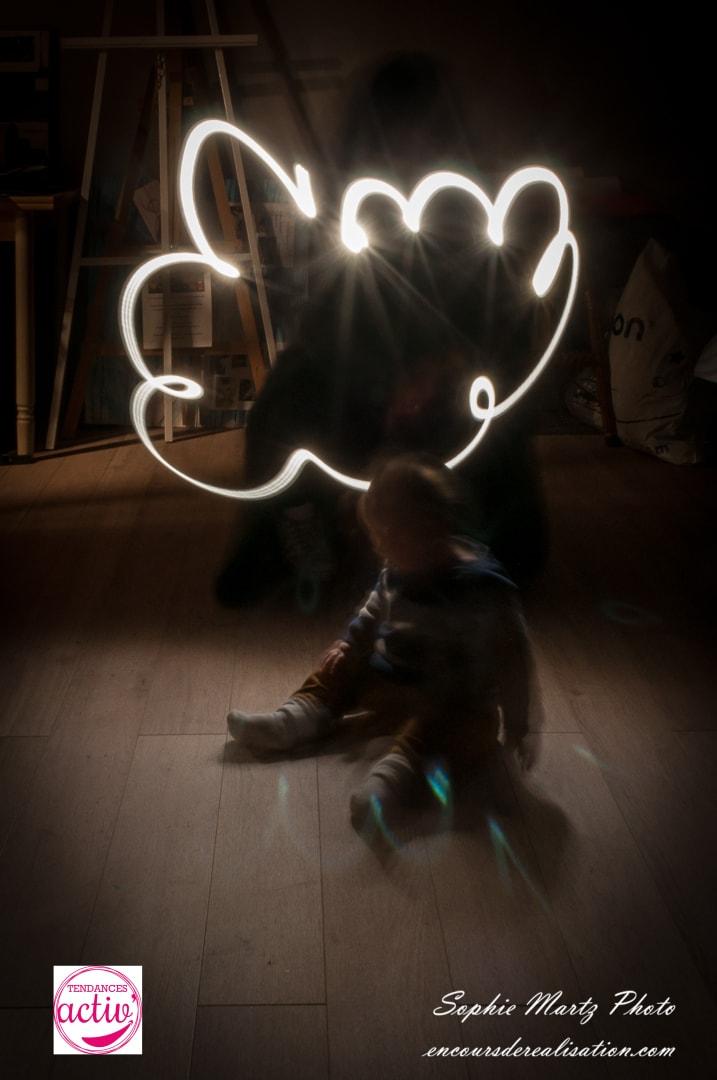 Lightpainting-bebe