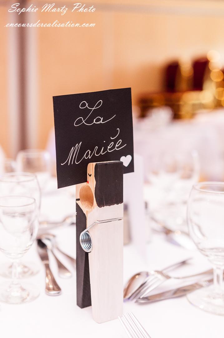 Détail de décoration de table de Mariage