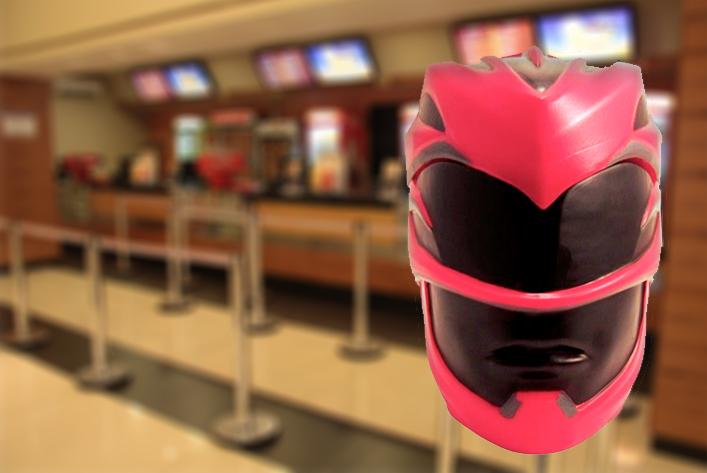 Cinema terá balde de pipoca de capacete dos Power Rangers