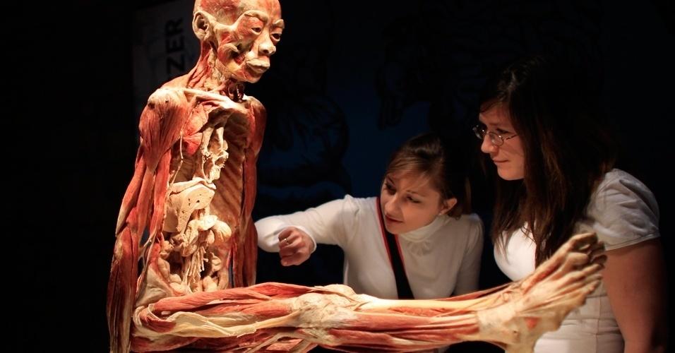 Shopping de Manaus recebe exposição com cadáveres reais