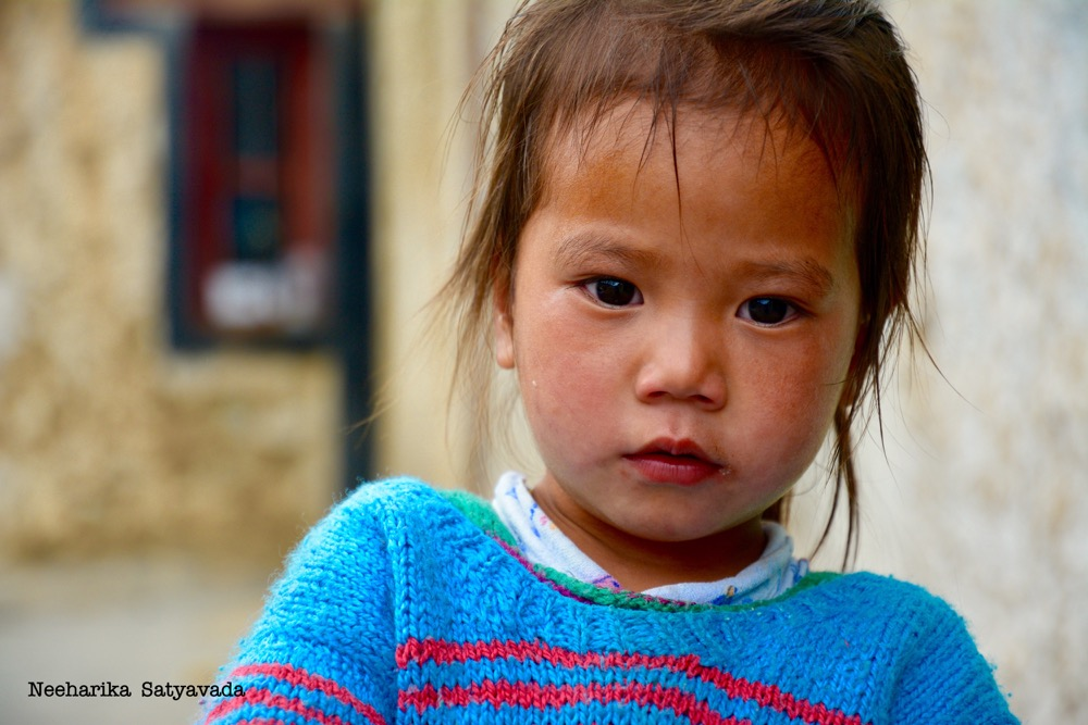 little girl ladakh