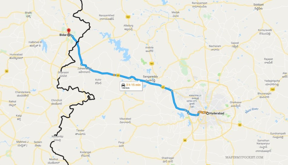Hyderabad to Bidar Road Trip Map.jpg