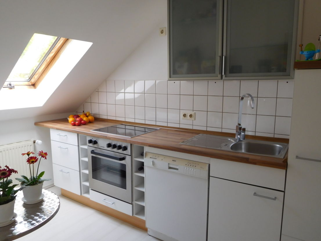 Kuche Dachgeschosswohnung Dachgeschosswohnung Wohnzimmer Einrichten