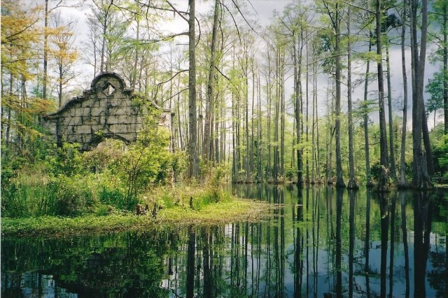 """Movie Set from """"The Patriot"""" at Cypress Gardens (Scan) 