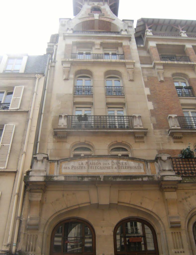 La Maison Rue Des Dames : maison, dames, Paris-VIIe,, Lille, Ancienne, Maison, Dames, Poste, (Eugène, Bliault, 1905), Mapio.net