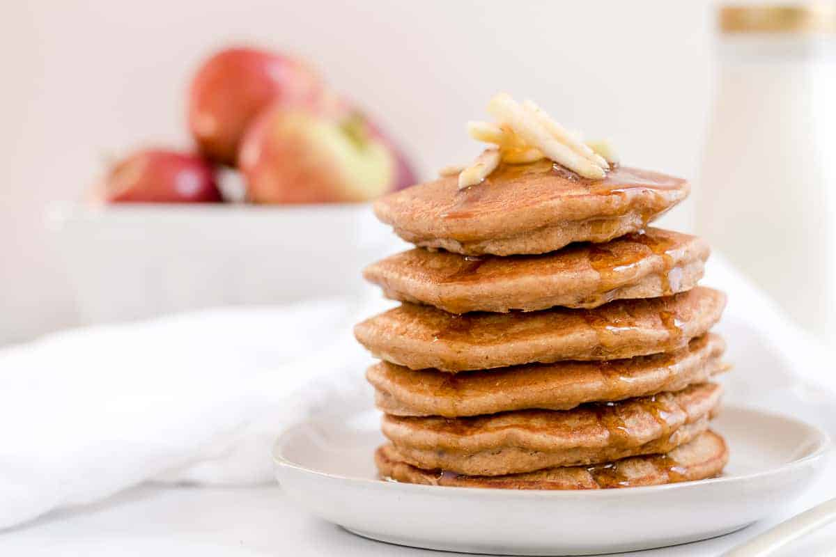 Easy Apple Butter Oatmeal Pancakes