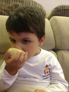 eating the orange