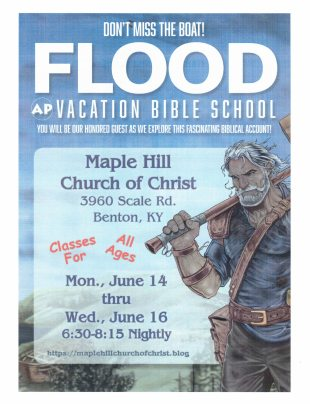 2021 VBS Flyer for Maple Hill