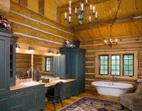 Interiors - Custom handcrafted log homes by Maple Island ...