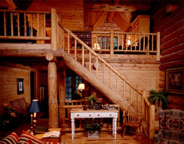 Hometime II  Custom handcrafted log homes by Maple Island