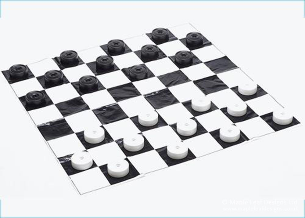 Draughts Pieces by Maple Leaf Designs. The One-Stop