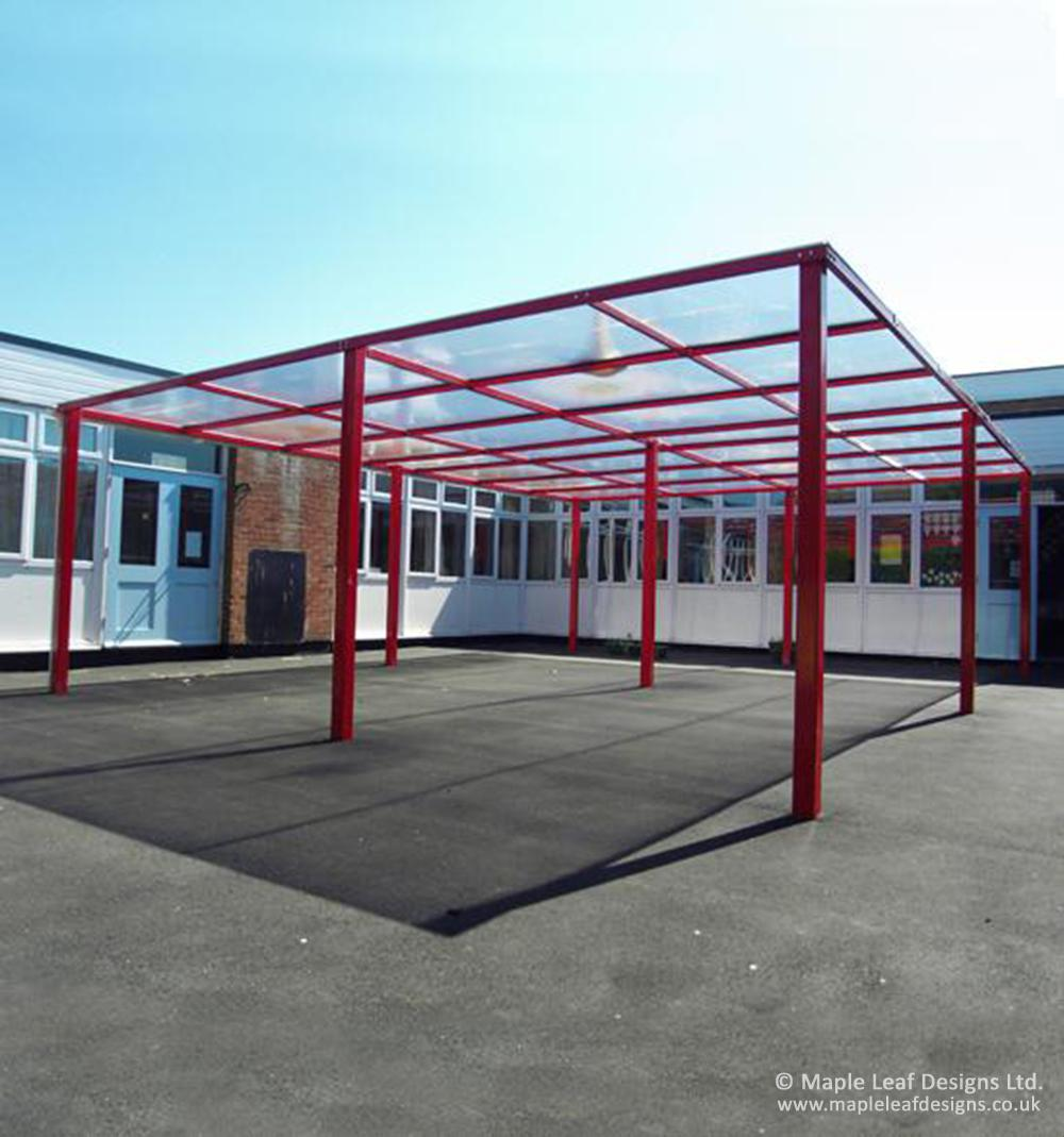 Metal Frame Pergola With Polycarbonate Roof Maple Leaf