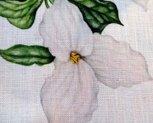 Ontario Lily Print on Linen Napkin detail