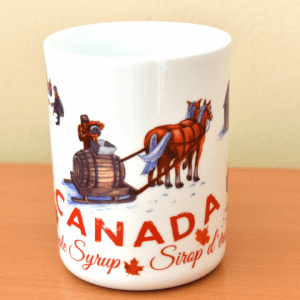 Canada Gift Mug Bone China Large Maple Syrup design 3