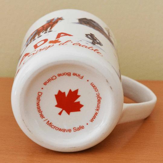 Canada Gift Mug Bone China Large Maple Syrup design 1