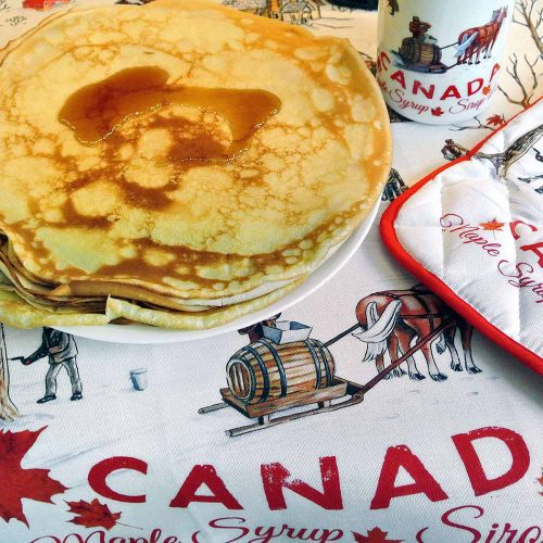Crepes with Canadian Maple Syrup