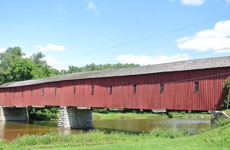 Covered Bridge Kissing Bridge West Montrose Ontario