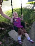 Swinging like a big kid!