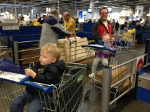 First family trip to IKEA (not counting the trip when I was 23 weeks pregnant...walking through IKEA with that much weight is not recommended).