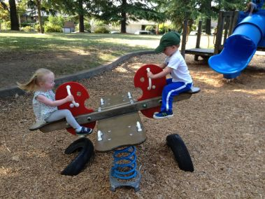They like making the teeter-totter go at maximum velocity.