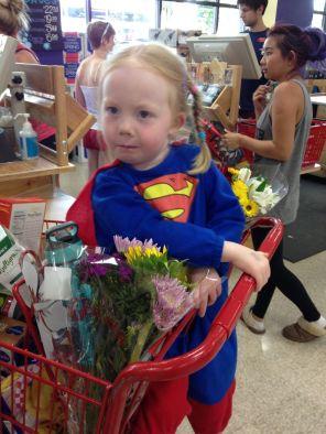 My superhero shopping buddy