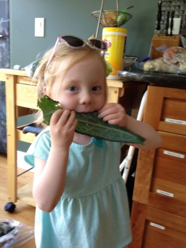 TK mowing on raw kale