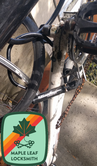This is a bicycle lock that endured a theft attempt in the University District.
