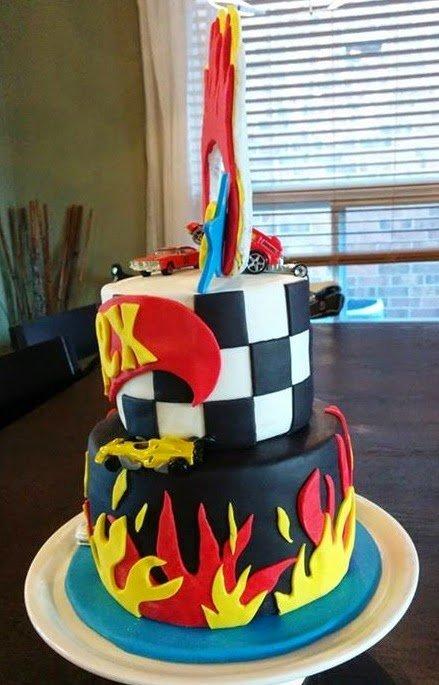Hot Wheels Themed Birthday Cake Ring Of Fire! Cake Magic