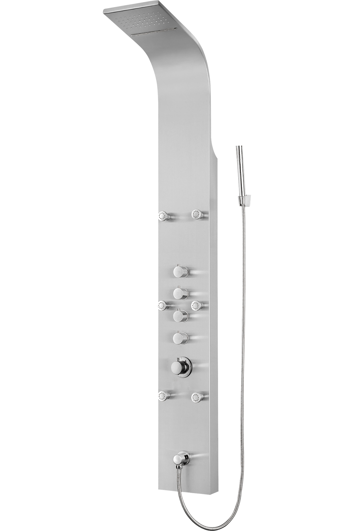 Whirlpool Badewanne Stiftung Warentest Stainless Steel Shower Panel Rain Style Massage Jets