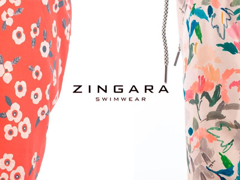 Zingara swimwear para hombres utiliza el color block y grandes estampados