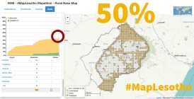 #MapLesotho rural task reaches 50% completion.