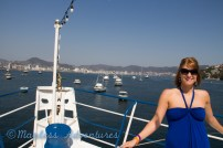 View of Acapulco from the boat