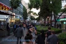 Walking to dinner