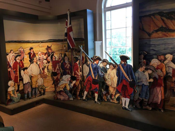Museum display-raising the British flag