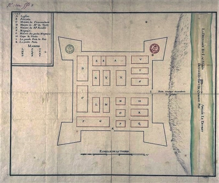 1702 Map of Detroit