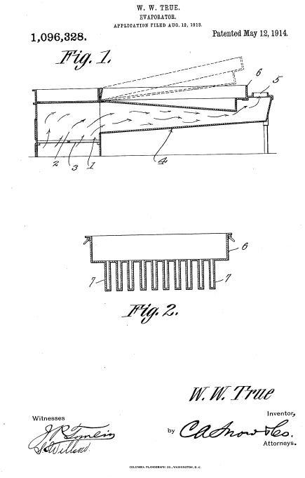 evaporator company histories true \u0026 blanchard \u2013 monarch evaporator Maple Syrup Evaporator Plans w w true 1914 patent for hinged flue pan and evaporator, us1096328