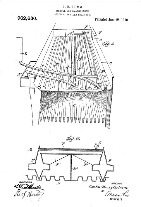 maple syrup history page 2 of 6 exploring the past world of Maple Syrup Evaporator Plans drawing for grimm\u0027s 1910 patent for a sap preheater (us962830)