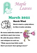 Maple Leaves March 2021 Newsletter